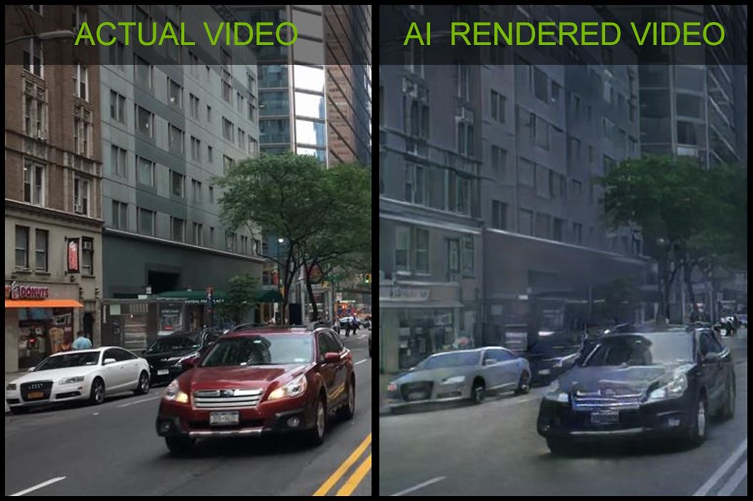 NVidia has created a faithful 3D render copy of a real-life video