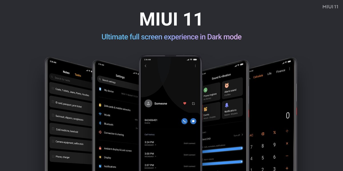 MIUI 11 is now official. Release date and list of updated devices