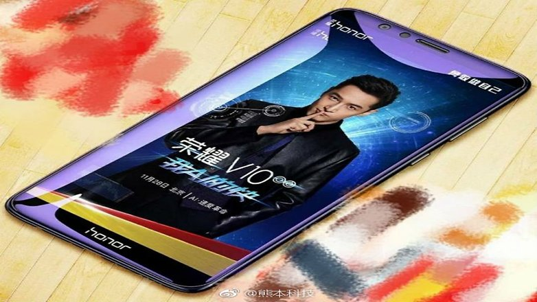Leaked image of Huawei Honor V10