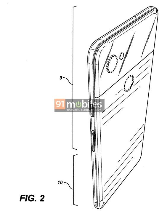 Google patented the design of Google Pixel 4